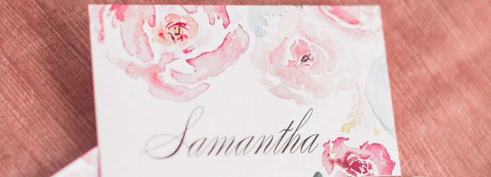 Blush place card