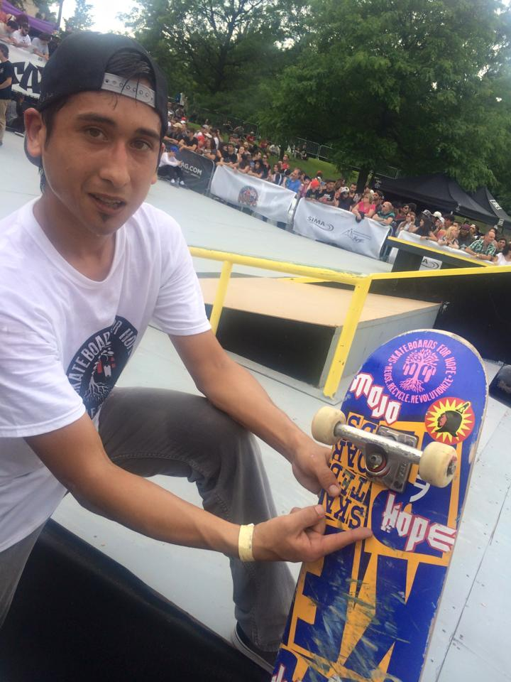 MOJO and customized skateboard