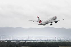 B777 is departing in Vienna, 2013