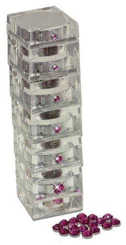 Swarovski Stack- Fuchsia