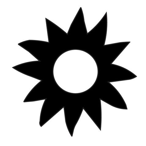Sun Stencil