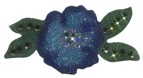 Flower Aqua-Silver-Turquoise-Navy