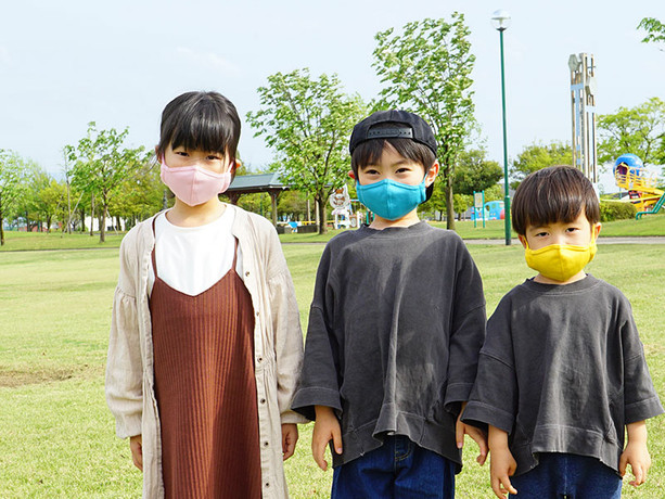 medi+洗える抗菌布製マスク アクティブメッシュサイドポケット付き 2枚入 キッズ用Sサイズ