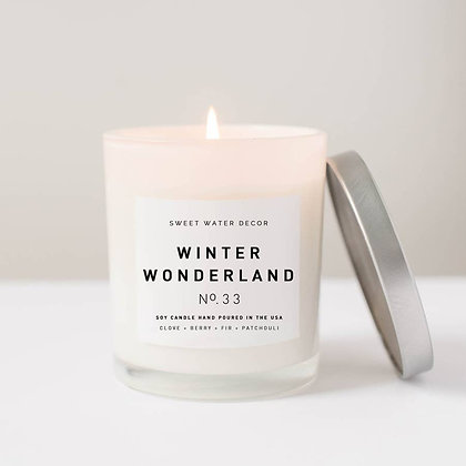 Winter Wonderland Soy Candle | White Jar Candle by Sweet Water Decor®