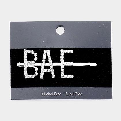 """BAE"" Crystal Pave Hair Bobby Pin"