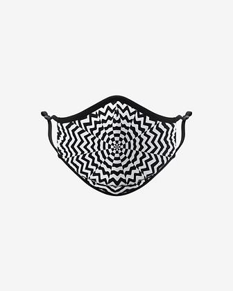 Grayscale Mandala by Jen Stark Face Mask
