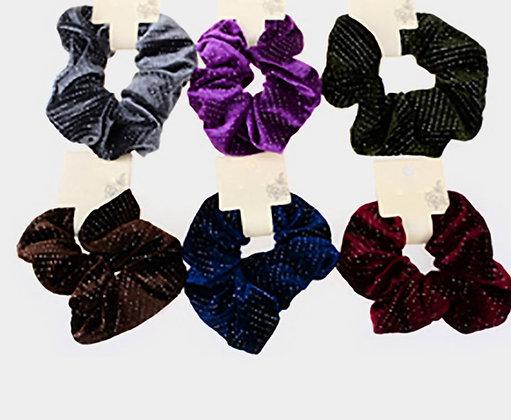 Velvet Burnout Scrunchies