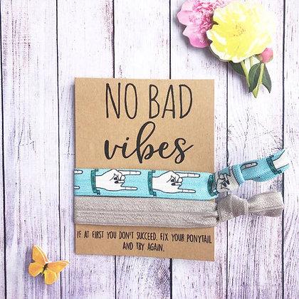 No Bad Vibes Hair Tie Set - Wishlets