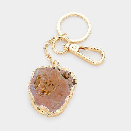 Gemstone Key Chain - Brown