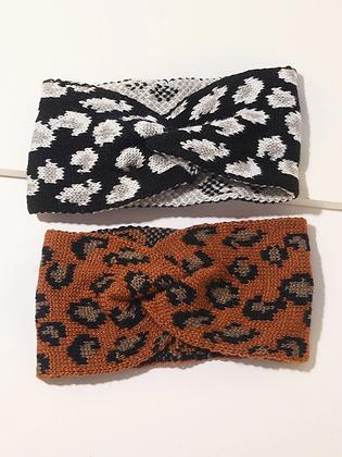 Leopard Pattern Winter Headband
