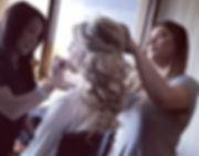 💄👰🏼FINAL TOUCHES💄👰🏼_#BBCteammember Stephania (makeup) and Sandra (hair) #bridalbyciros #BlakeA
