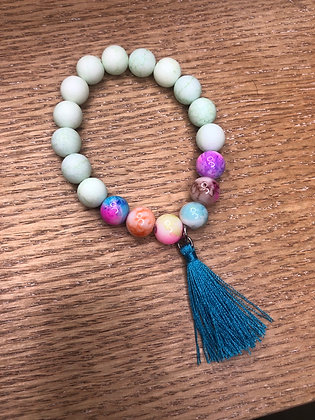 Tassel Charm Bead Bracelet