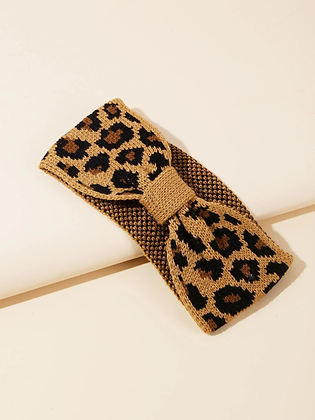 Leopard Pattern Winter Headband