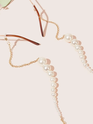 Pearl Bead Large Face Mask Chain