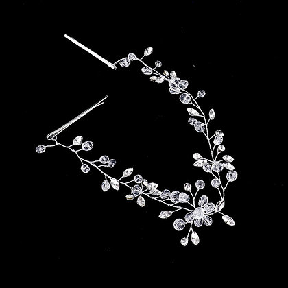 CRYSTAL BEAD SPROUT HAIR COMB
