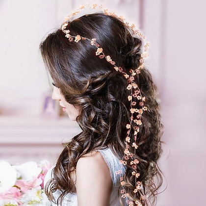 WEDDING BRIDAL FLOWER LONG HAIR VINE ACCESSORY
