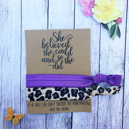 She Believed She Could So She Did Hair Tie Set - Wishlets