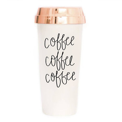 Coffee Coffee Coffee Travel Mug by Sweet Water Decor®