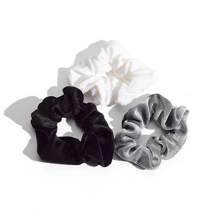 Luxe Velvet Scrunchies - Set of 3 - Mulberry & Grand