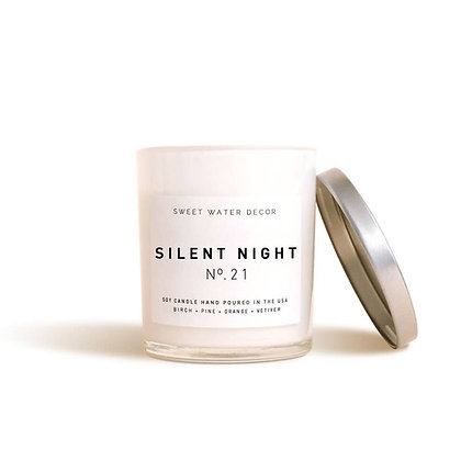 Silent Night Soy Candle | White Jar Candle by Sweet Water Decor®