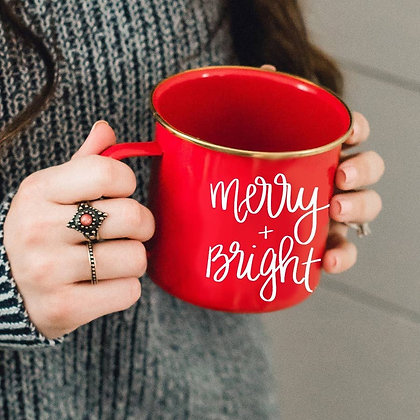 Merry and Bright Campfire Coffee Mug by Sweet Water Decor®