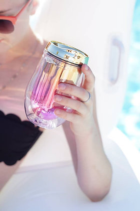 Assorted Metallic Ombre Stemless Wine Tumblers by Blush®