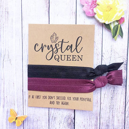 Crystal Queen Hair Tie Set - Wishlets