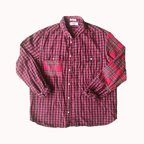 Chemise à carreaux patchwork