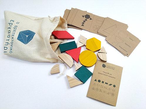 Ξύλινο παιχνίδι με σχήματα