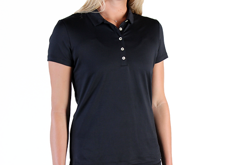 Women's Black Camo Polo