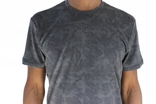 Men's Black Camo Short Sleeve Court Tee