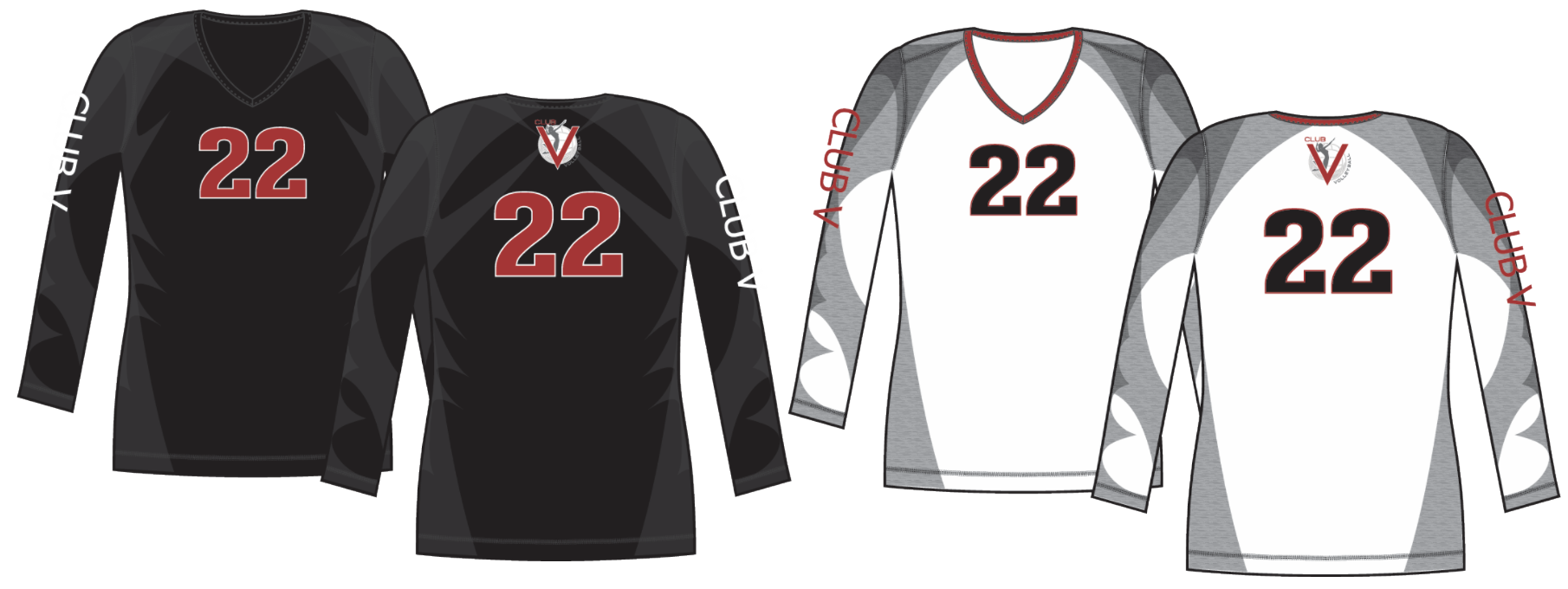 CLUB V Volleyball Custom Uniforms