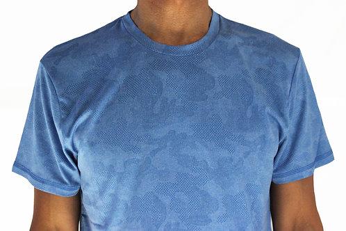 Men's Royal Camo Short Sleeve Court Tee