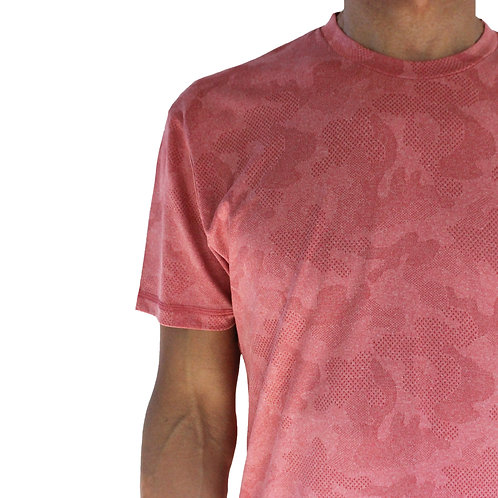 Men's Red Camo Short Sleeve Court Tee