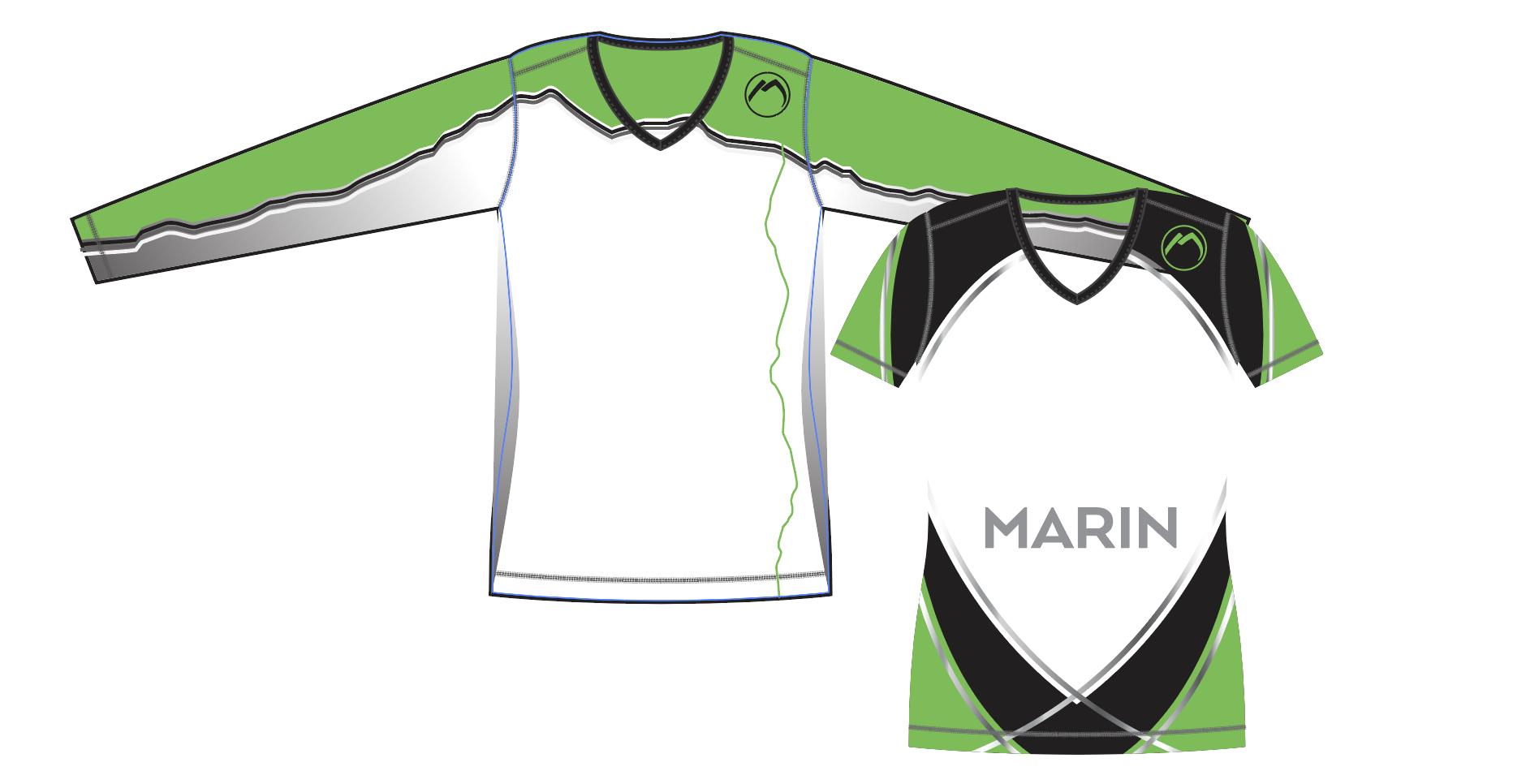 Long Sleeve Sublimated Uniform Marin Jrs