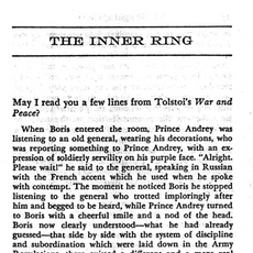 4. The Inner Ring (C.S. Lewis)