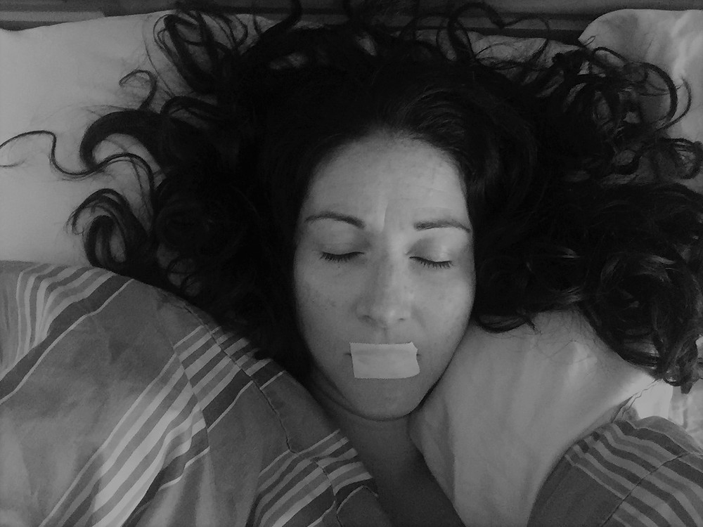 Tape mouth at night improves sleep