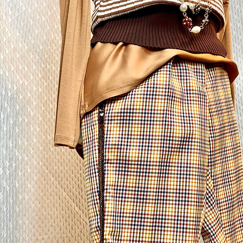 Pantalone a quadretti con banda laterale