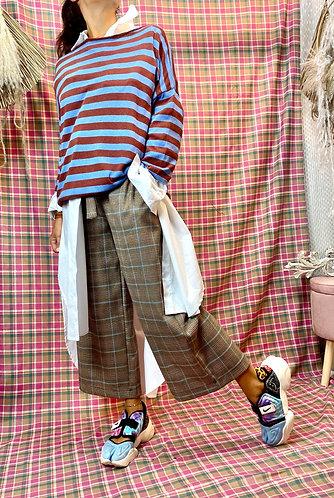 Pantalone a palazzo -QUADRI