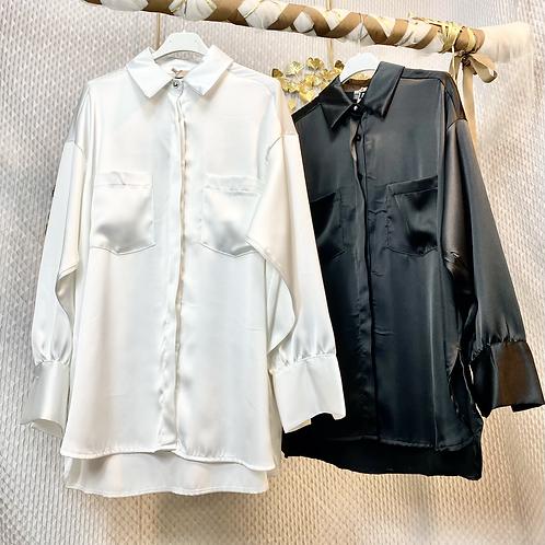 Camicia in raso