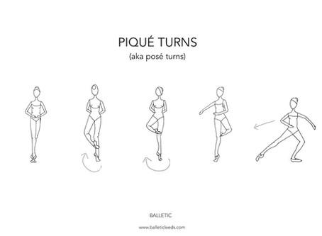 Pique Turns  (aka posé turns)