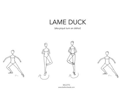LAME DUCK (aka piqué or posé turn en dehor)