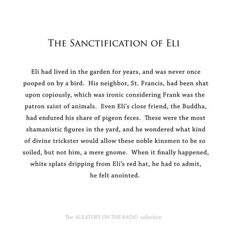 The Sanctification of Eli