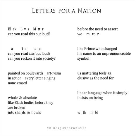 Letters for a Nation
