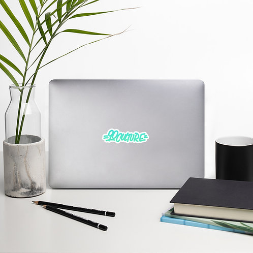 90culture Logo Teal Bubble-free stickers