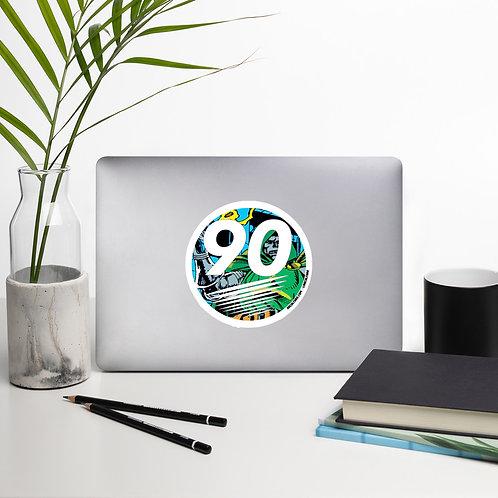 90culture Logo Doom Bubble-free stickers