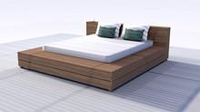"""Mon """"BED"""" au bord de la piscine"""