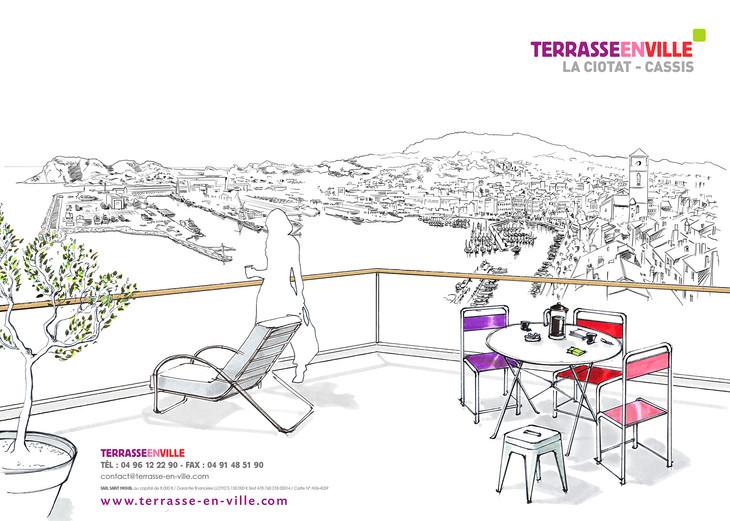 Une terrasse avec vue sur La Ciotat
