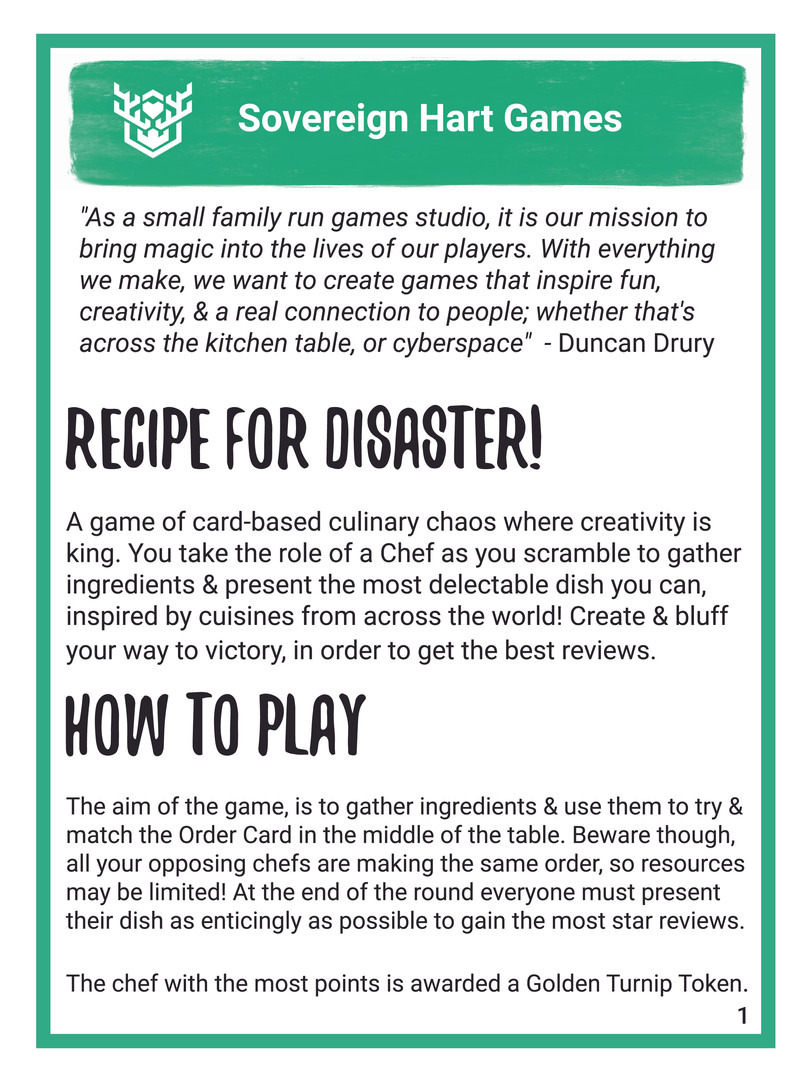 Recipe For Disaster English Rulebook 02