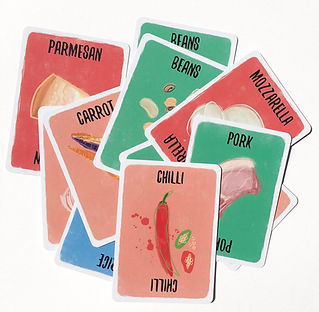 Recipe for disaster ingredient cards